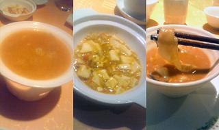 上海蟹スープ・蟹味噌麻婆豆腐・蟹味噌担々麺