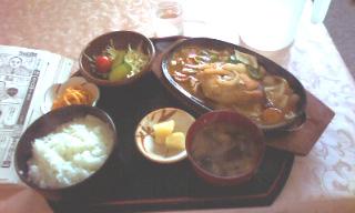 鮭のチャンチャン焼き定食