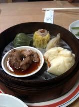 チャーシュー饅、豚肉と豆豉の炒め物、餃子、シュウマイ